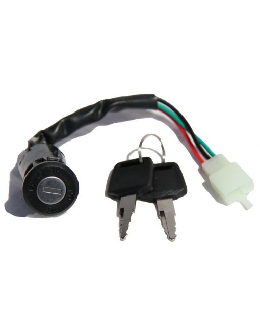 Key switch / Ignition lock, two positions, with light (3 wires)
